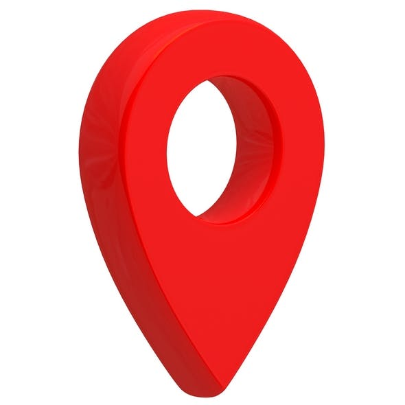 3D Map Pointer Red