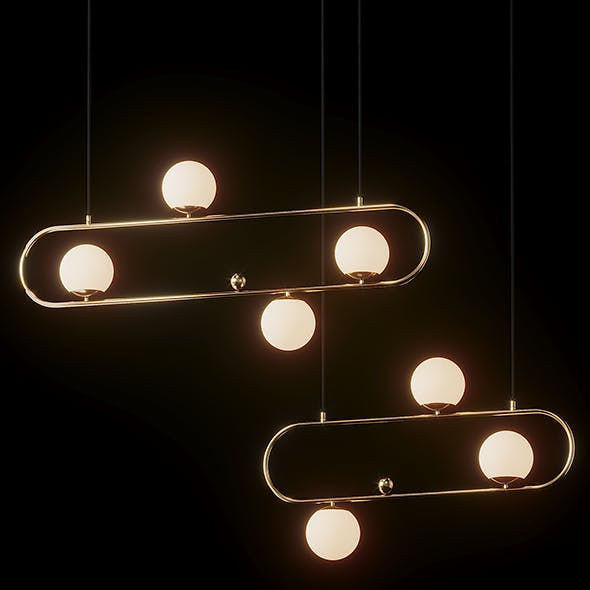 Modern Style 4 Light Linear - Big and Medium - 3DOcean Item for Sale