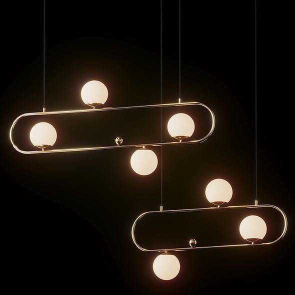 Modern Style 4 Light Linear - Big and Medium