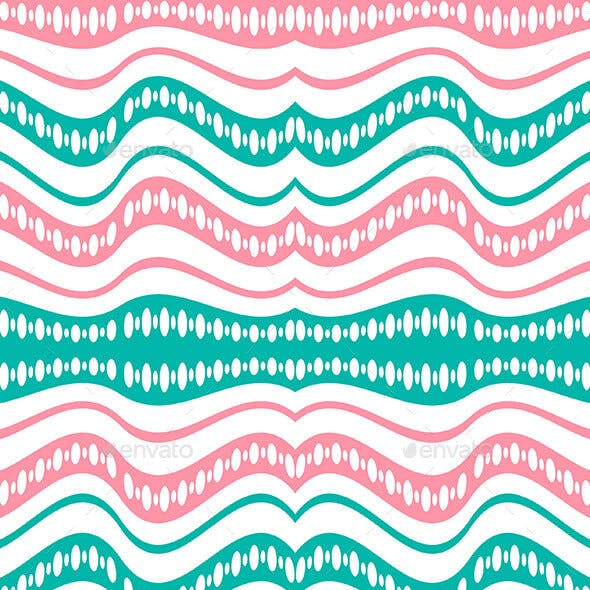 Waving Lines Vivid Seamless Pattern