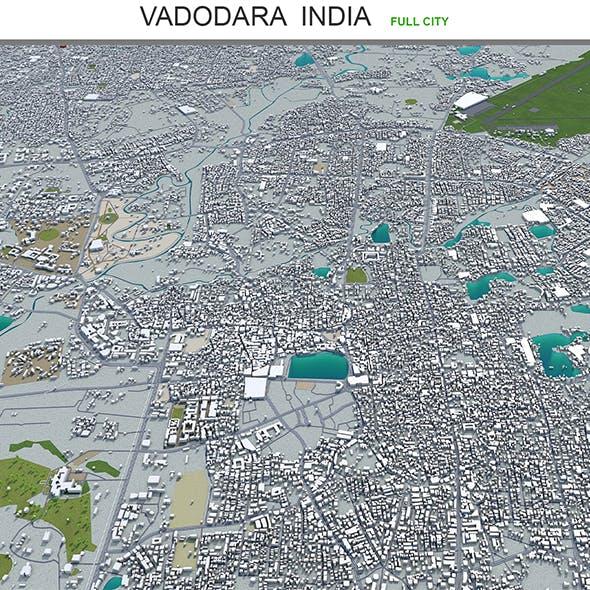 Vadodara city India 3d model 30km - 3DOcean Item for Sale
