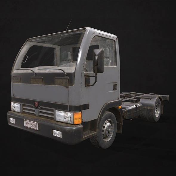 Light Truck Chassis - Low Poly - 3DOcean Item for Sale