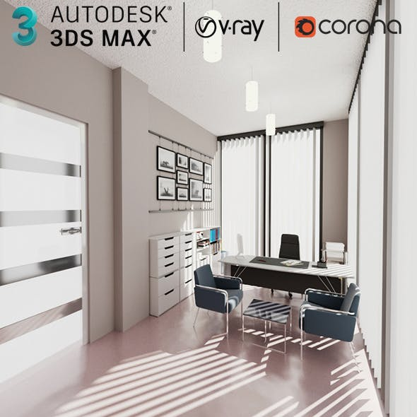 3D Office Interior Scene Max
