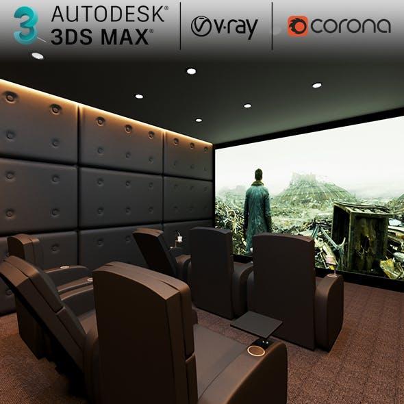 3D Max Cinema Room, Home Theatre Scene