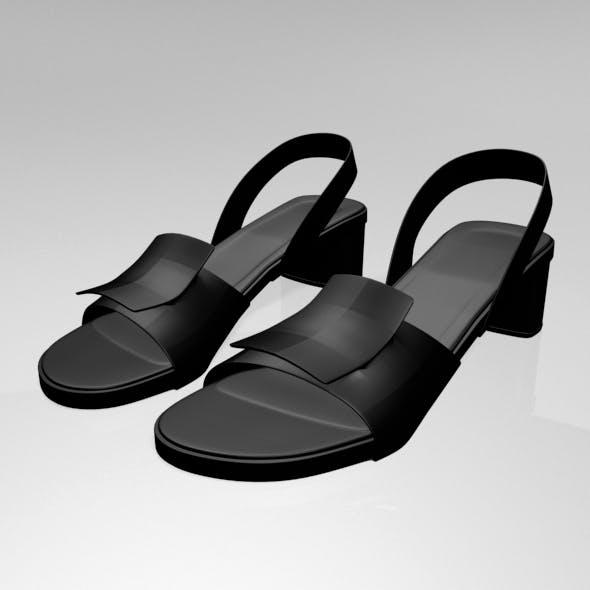 Round-Toe Chunky-Heel Sandals 01
