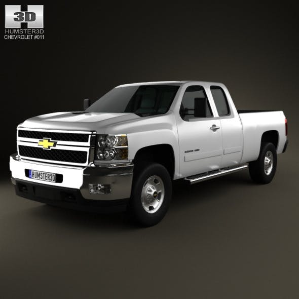 Chevrolet Silverado HD ExtendedCab StandardBed 201 - 3DOcean Item for Sale