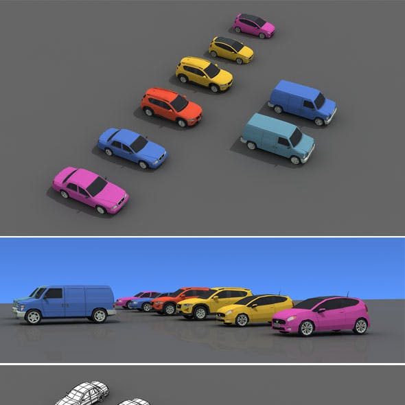 Mobile Game Low Poly Car
