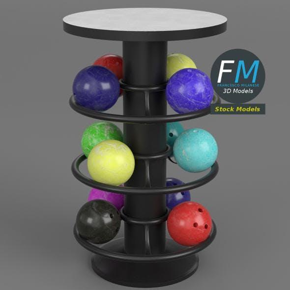 Bowling table rack 1