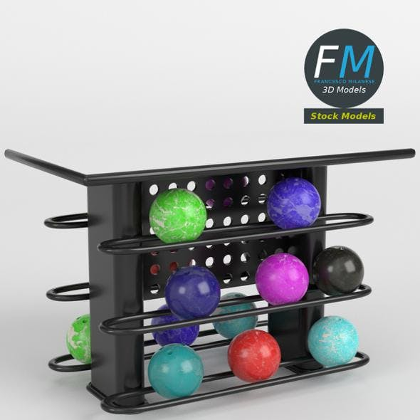 Bowling table rack 2