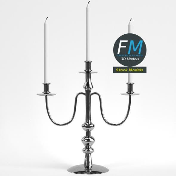 Candelabrum 3-branches - 3DOcean Item for Sale