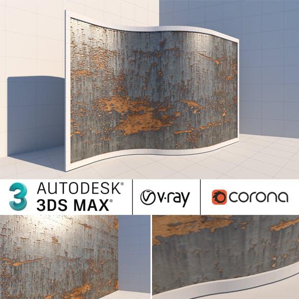 Rusty Metal Wall 3dsmax