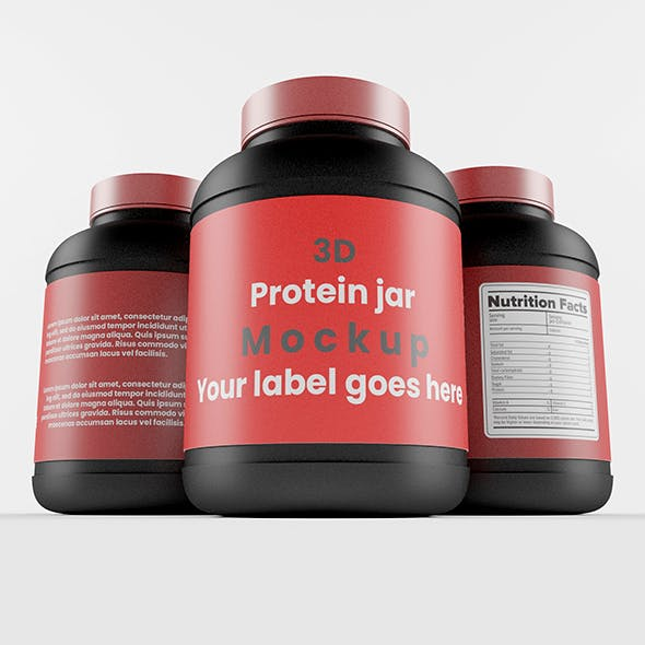 Protein Bottle with Red Cap