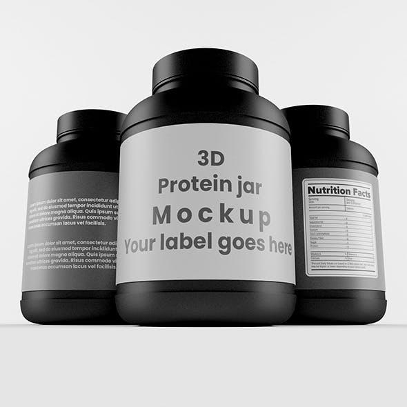 Protein Jar with Black Cap