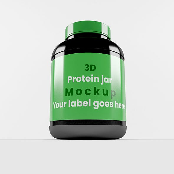 Muscle protein bottle with Green cap