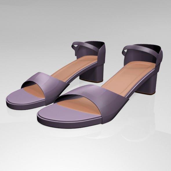 Round-Toe Block-Heel Sandals 01