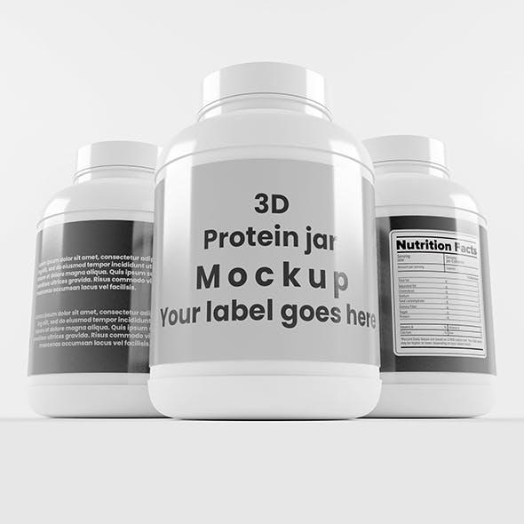 Supplement / Protein / Plastic Jar_8