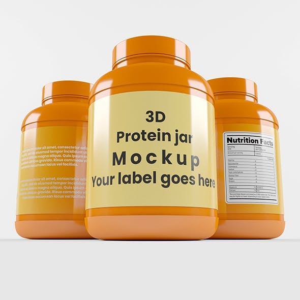 Supplement / Protein / Plastic Jar_11