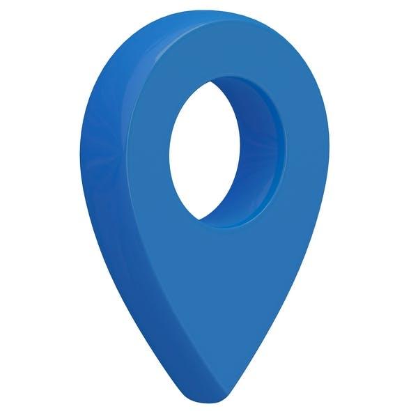 3D Map Pointer sky blue