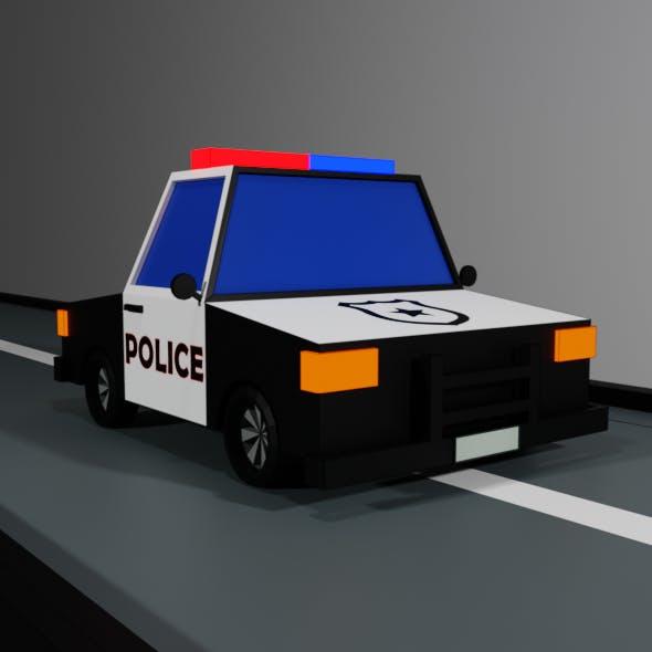 Low-poly police car