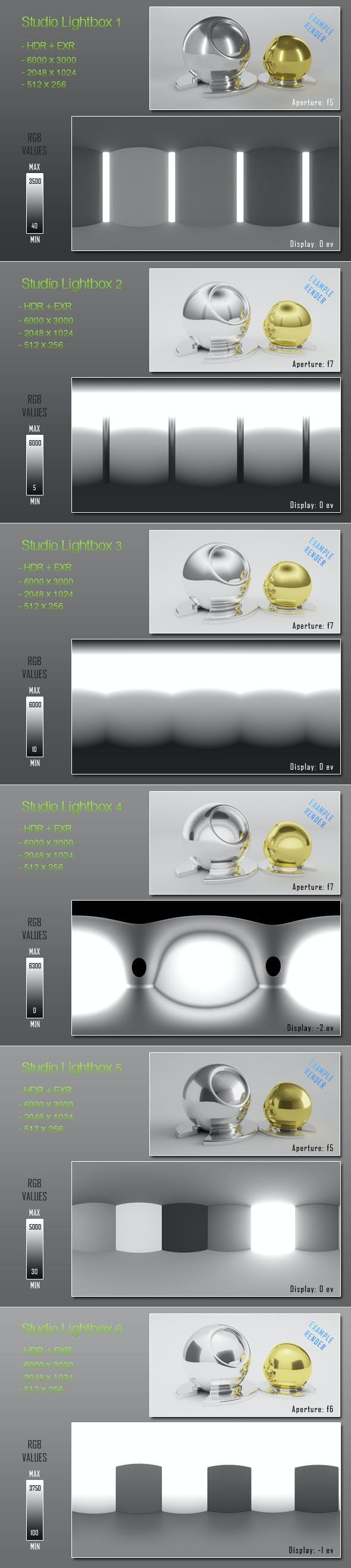 HDRI - 6 Light Tent Maps - 3DOcean Item for Sale