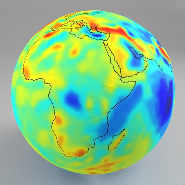Earth Gravity Map