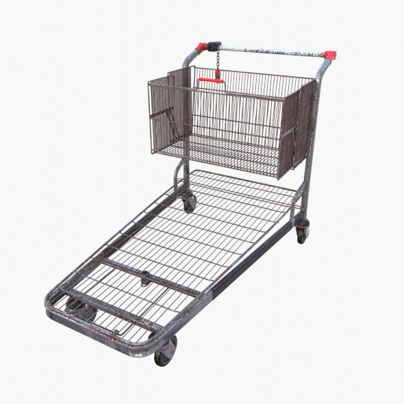 Shopping cart weathered stack v2 - 3DOcean Item for Sale