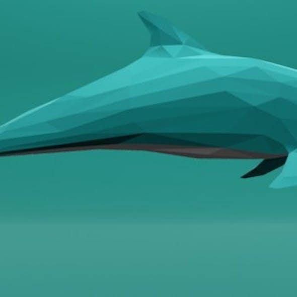 Dolphin Cartoon Lowpoly