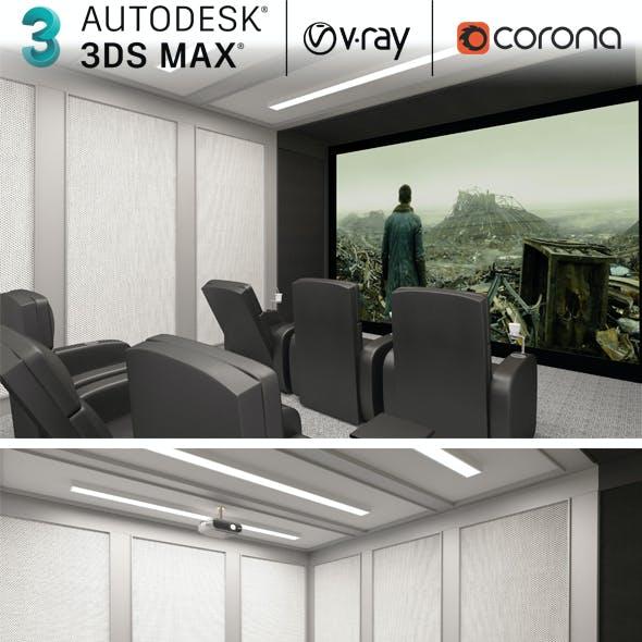 3dsmax Cinema Room Home Theatre