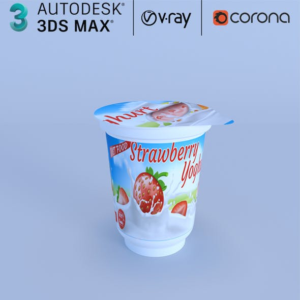 Fruit yoghurt Realistic