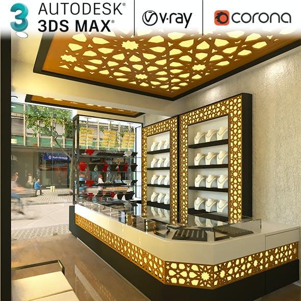 Jewellery Showroom Interior Realistic Design