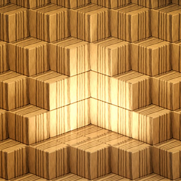 Perfect cube array background Low-poly 3D model