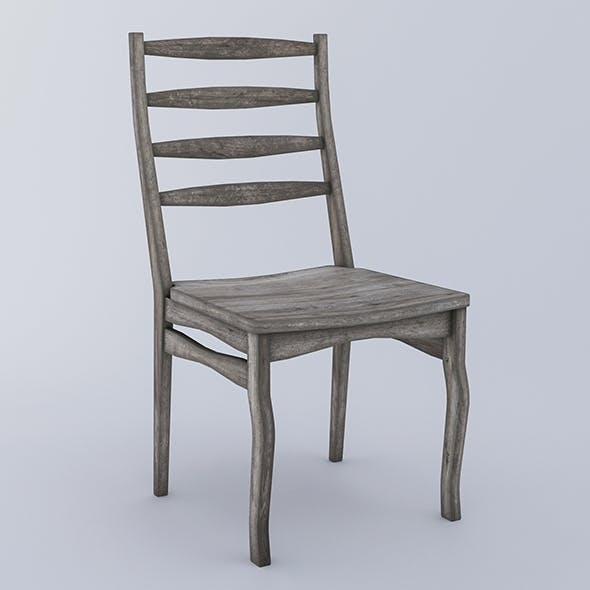 Wooden chair - aged wood - 3DOcean Item for Sale