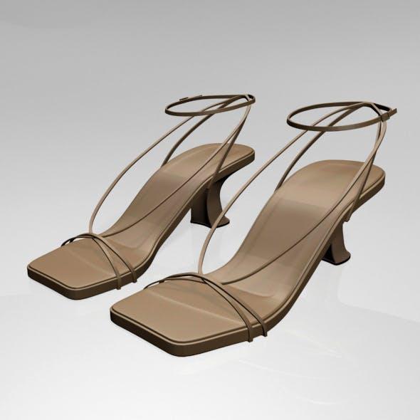Square-Toe Block-Heel Ankle-Strap Sandals 01