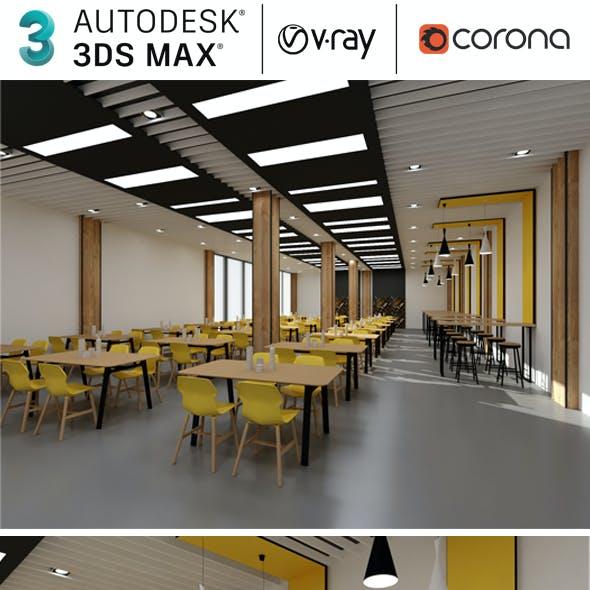 Cafeteria Restaurant Realistic Design