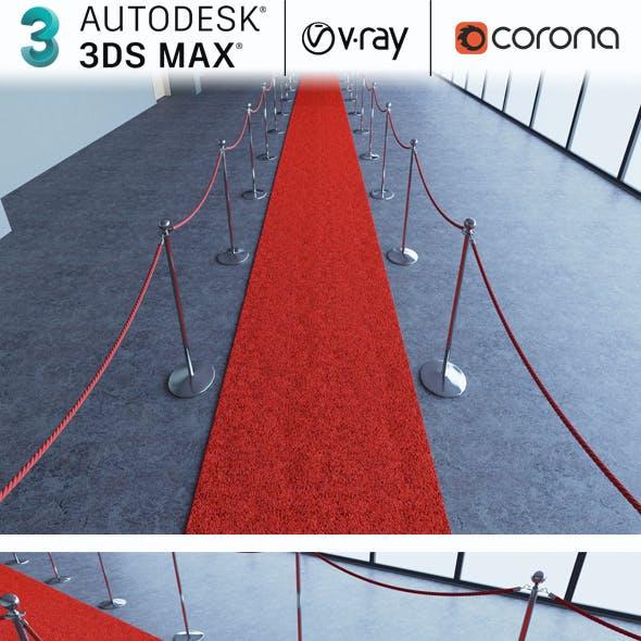 Red Carpet Realistic 3d Model