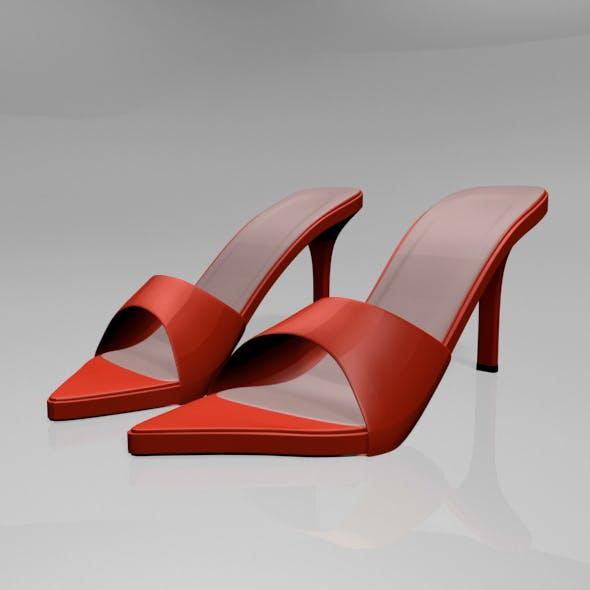 Pointy-Toe High-Heel Slide Sandals 01