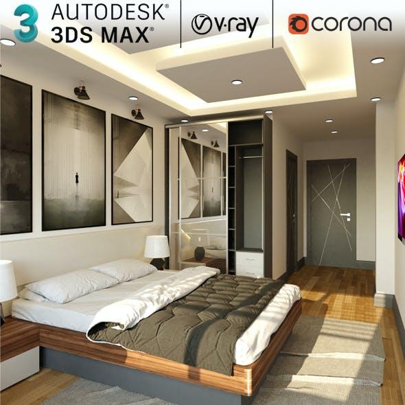 Realistic Hotel Room Interior Designer 3d Scene