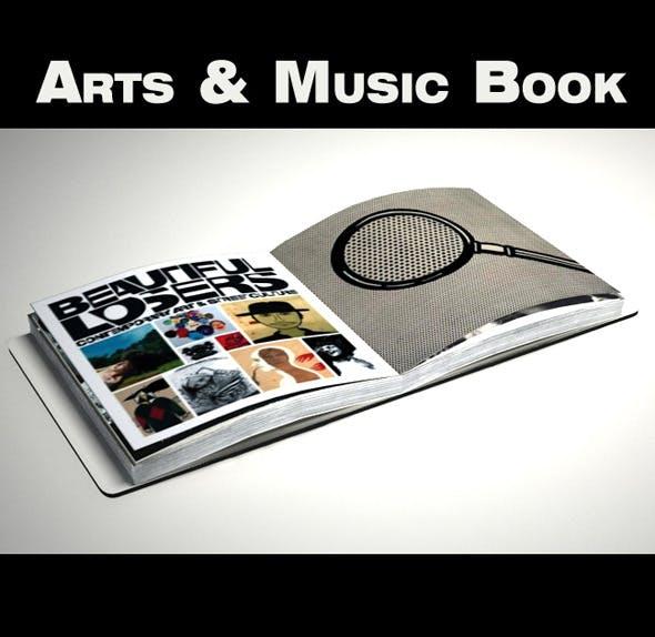 Art & Music Book - 3DOcean Item for Sale