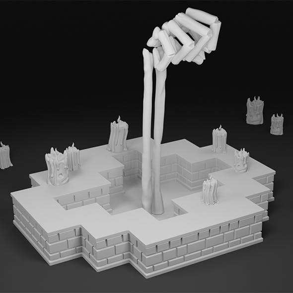Hand of a Lich from Enter the Gungeon 3D print model