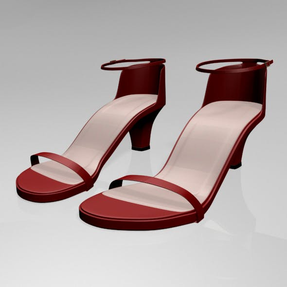 Round-Toe Ankle-Strap Chunky-Heel Sandals 01