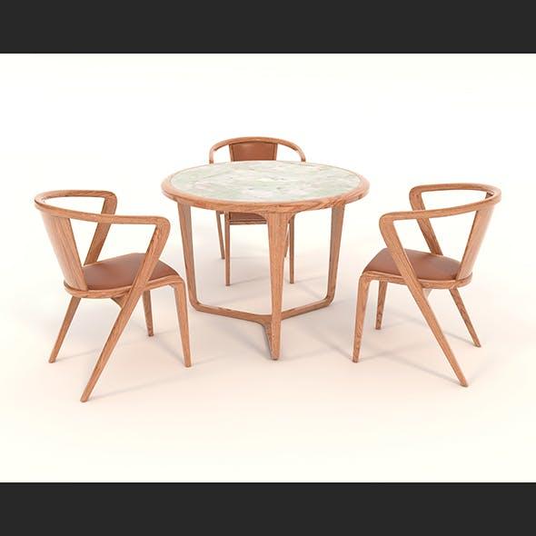 Contemporary Design Armchair Set 13