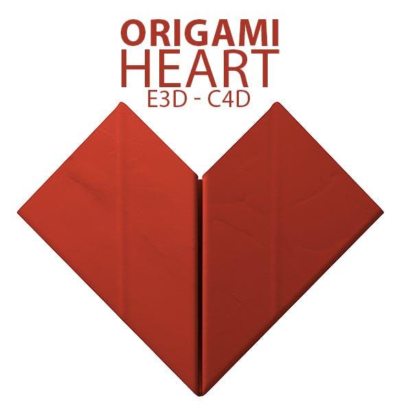 Paper Heart Origami 3D Model