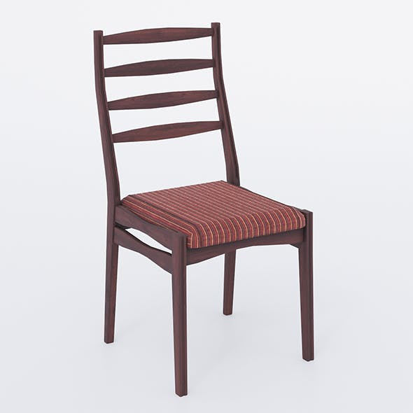 Wooden chair with fabric seat 002 - 3DOcean Item for Sale