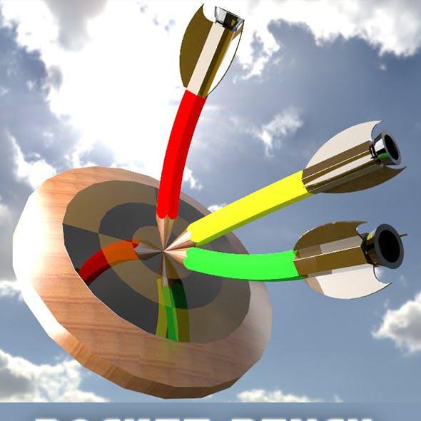 3D Design of Rocket Pencil