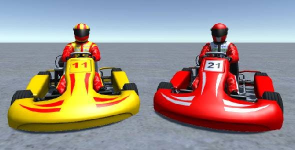 2 Low Poly Karts With Player Pack 5 - 3DOcean Item for Sale
