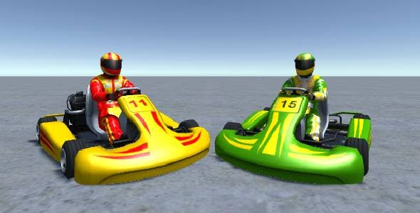2 Low Poly Karts With Player Pack 6 - 3DOcean Item for Sale