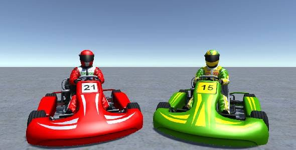 2 Low Poly Karts With Player Pack 8 - 3DOcean Item for Sale