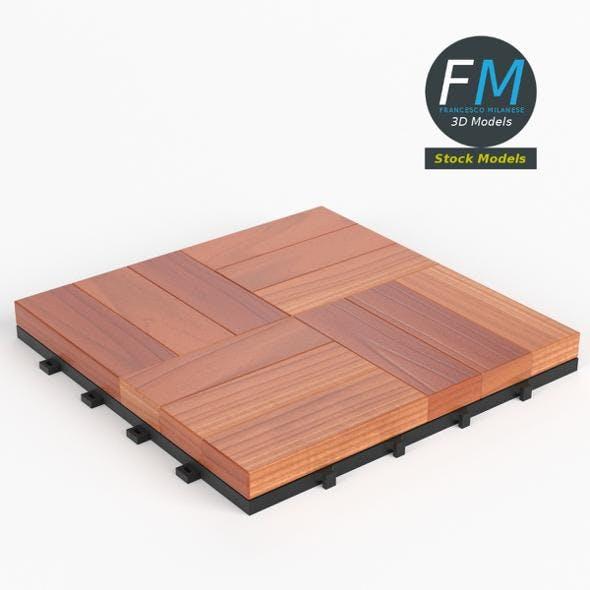 Floor decking tiles set