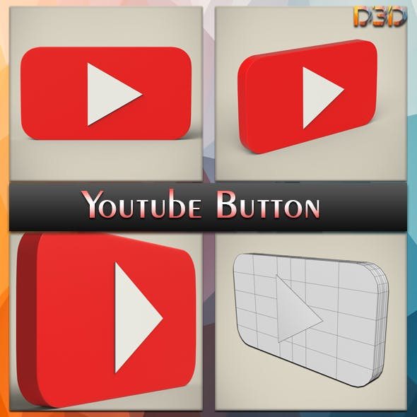 YouTube button - 3DOcean Item for Sale