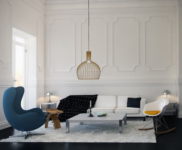 Realistic HDRI Interior Scene with PSD File - 3DOcean Item for Sale